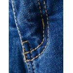 Zip Fly Bleach Wash High Rise Jeans deal