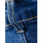Zip Fly Bleach Wash High Rise Jeans for sale