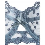 Embroidered Bowknot Bra Set for sale