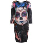 Devil Skull Print Mini Bodycon Dress photo