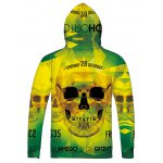 cheap 3D Skull Printed Long Sleeve Drawstring Hoodie