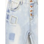 best Loose Button Fly Distressed Jeans