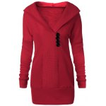 best Tunic Hooded Knitwear with Button