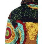 Hooded Ethnic Print Plus Size Coat deal