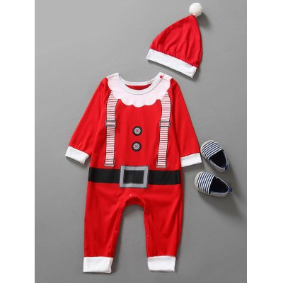 Christmas Clothes Outfits Kids Jumpsuit