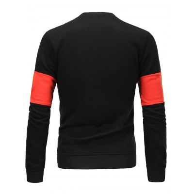 Flocking Color Block Spliced Long Sleeve SweatshirtMens Hoodies &amp; Sweatshirts<br>Flocking Color Block Spliced Long Sleeve Sweatshirt<br><br>Material: Cotton Blends<br>Clothing Length: Regular<br>Sleeve Length: Full<br>Style: Casual<br>Weight: 0.383kg<br>Package Contents: 1 x Sweatshirt