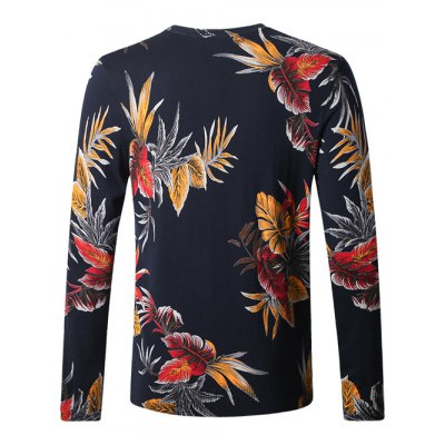 Elk Leaf Print Pullover SweaterMens Sweaters &amp; Cardigans<br>Elk Leaf Print Pullover Sweater<br><br>Type: Pullovers<br>Material: Cotton Blends<br>Sleeve Length: Full<br>Collar: Crew Neck<br>Style: Casual<br>Weight: 0.450kg<br>Package Contents: 1 x Sweater