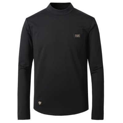 Turtle Neck Long Sleeve T-Shirt