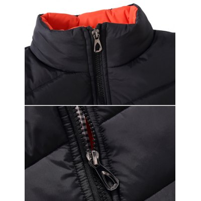 Stand Collar Zipper-Up Quilted JacketPlus Size Outerwear<br>Stand Collar Zipper-Up Quilted Jacket<br><br>Clothes Type: Padded<br>Collar: Stand Collar<br>Material: Cotton, Polyester<br>Package Contents: 1 x Jacket<br>Season: Winter<br>Shirt Length: Regular<br>Sleeve Length: Long Sleeves<br>Style: Casual<br>Weight: 0.572kg