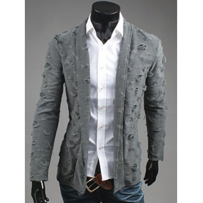 Ripped Open Front Cardigan