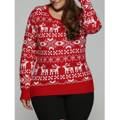 Christmas Jacquard Pullover Knit Sweater