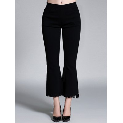 Plus Size Flare Ankle Pants