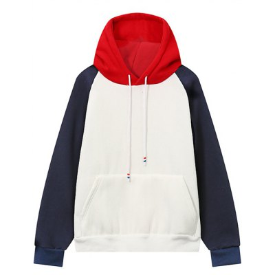 Color Block Front Pocket Hoodie