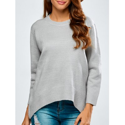 High-Low Baggy Sweater