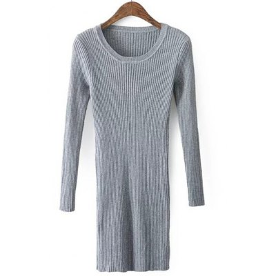 Slim  Fit Long Knitted  Sweater