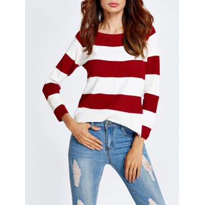 High-Low Stripe Baggy Knitwear