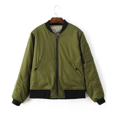 Reversible Stand Collar Bomber Jacket