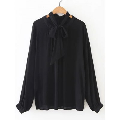Loose Tied-Up Bowknot Blouse