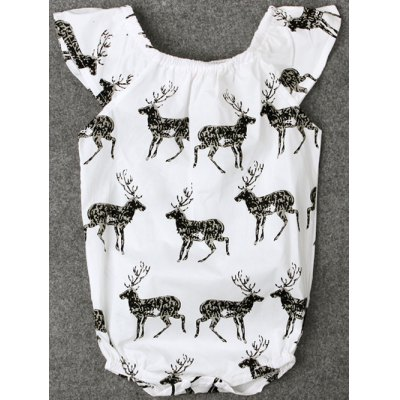 Baby Cap Sleeve Deer Printed BodysuitGirls Clothing<br>Baby Cap Sleeve Deer Printed Bodysuit<br><br>Material: Cotton Blends<br>Fit Type: Regular<br>Pattern Type: Character<br>Style: Casual<br>With Belt: No<br>Weight: 0.066kg<br>Package Contents: 1 x Romper