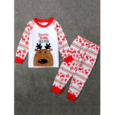 Christmas Crew Neck Deer T Shirt Pants Pyjamas SetsGirls Clothing<br>Christmas Crew Neck Deer T Shirt Pants Pyjamas Sets<br><br>Type: Pajamas sets<br>Material: Cotton Blend<br>Neckline: Round Collar<br>Sleeve Length: Long Sleeves<br>Pattern Type: Character<br>Season: Fall,Spring<br>Weight: 0.124kg<br>Package Contents: 1 x T-Shirt  1 x Pants