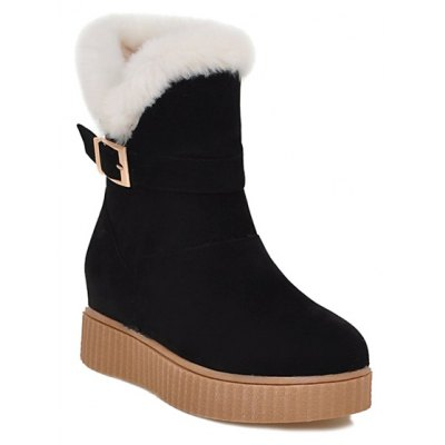 Round Toe Increased Internal Buckle Snow Boots