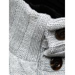 Stand Collar Half Button Up Twist Sweater deal