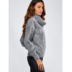 cheap Turtleneck Cable Knit Loose Sweater