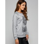 cheap Dreamcather Print Pullover Sweatshirt