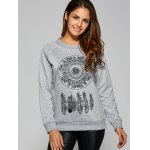 Dreamcather Print Pullover Sweatshirt