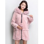 cheap Fluffy Faux Fur Hooded Coat