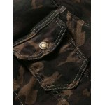 Turn-Down Collar Camouflage Pattern Double Pocket Denim Jecket for sale