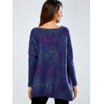 Asymmetric Baggy Jacquard Sweater for sale