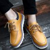 cheap PU Leather Stitching Lace-Up Work Shoes
