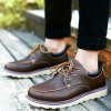 PU Leather Stitching Lace-Up Work Shoes deal