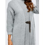 best High Neck Belted Sweater Dress and Collarless Cardigan