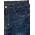 Zipper Fly Plus Size Basic Straight Leg Jeans photo