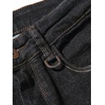 Zipper Fly Plus Size Simple Straight Leg Jeans for sale