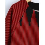 Plus Size 3/4 Sleeve Striped T-Shirt deal