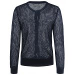 cheap Openwork Single Breasted Cardigan