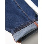 Zipper Fly Plus Size Simple Cat's Whisker Straight Leg Jeans photo