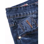 Zipper Fly Plus Size Simple Cat's Whisker Straight Leg Jeans for sale