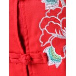 Frog Button Embroidered Long Coat photo