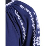 Long Sleeve Embroidered Peasant Blouse deal