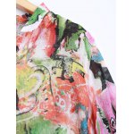 Plus Size Asymmetrical Abstract Print Blouse deal