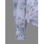 Chiffon Off The Shoulder Print Blouse for sale