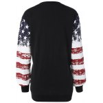 cheap Stars and Stripes Drop Shouler Sweatshirt