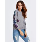 Sequined Patched Thick Knitwear for sale