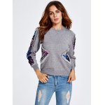 cheap Sequined Patched Thick Knitwear