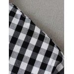 Checked Back Button Fly Blouse deal