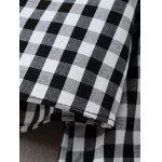 Checked Back Button Fly Blouse for sale